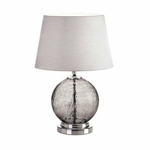 Grey Cracked Glass Table Lamp Lighting > Table Lamp
