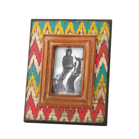 Ikat Chevron Wood Photo Frame Picture Frames