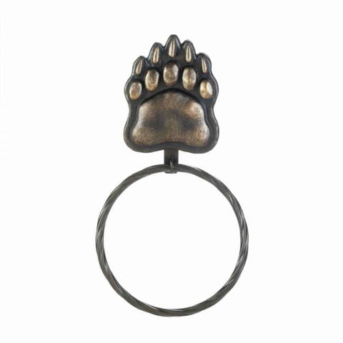 Iron Bear Paw Towel Ring Bed; Bath & Body