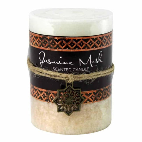 Jasmine Musk Moroccan Pillar Candle 3X4 Home Fragrances