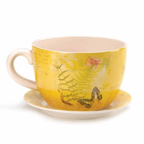 Large Garden Butterfly Teacup Planter Outdoor > Gardening > Planters