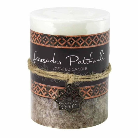 Lavender Patchouli Pillar Candle 3X4 Home Fragrances