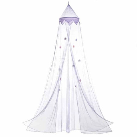 Magical Purple Bed Canopy Bed; Bath & Body