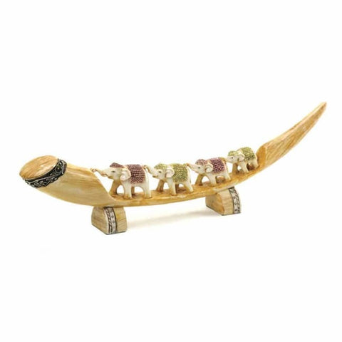 Multicolored Elephant Tusk Living Room > Tabletop Decor