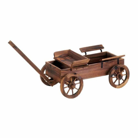 Old World Planter Wagon Outdoor > Gardening > Planters