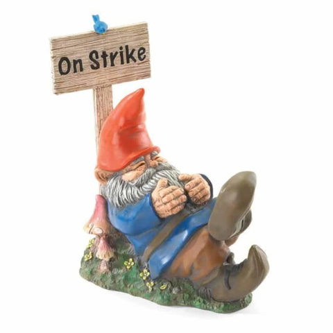 On Strike Garden Gnome Patio; Lawn & Garden