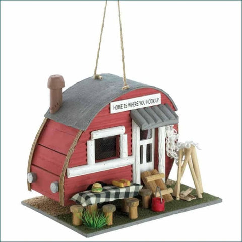 Red Trailer Birdhouse Birdhouse