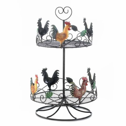 Rooster 2 Tier Countertop Rack Kitchen & Dining