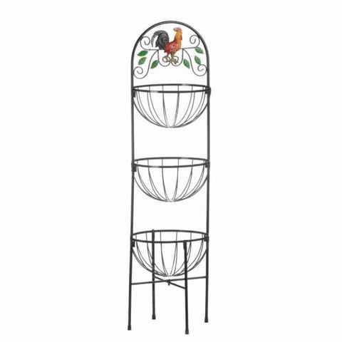 Rooster 3-Tier Kitchen Basket Kitchen & Dining
