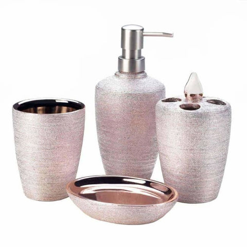 Rose Golden Shimmer Bath Accessories Christmas Catalog