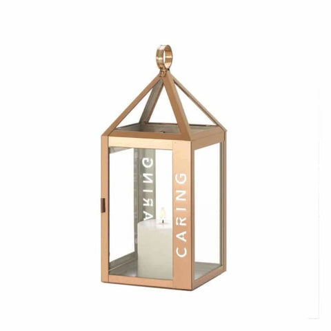 Rose Metal Frame Caring Lantern Lighting