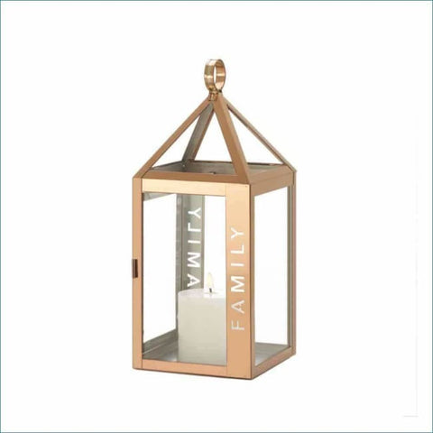 Rose Metal Frame Family Lantern Lighting