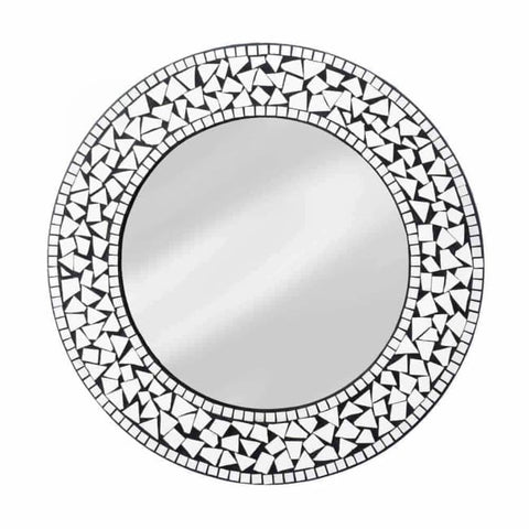 Round Mosaic Wall Mirror Accents > Mirrors