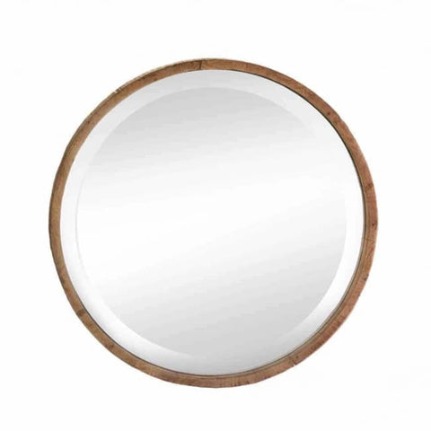 Round Wood Frame Wall Mirror Accents > Mirrors