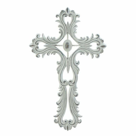 Scalloped White Cross Religious And Inspiration