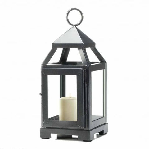 Silver Mini Contemporary Lantern Lighting