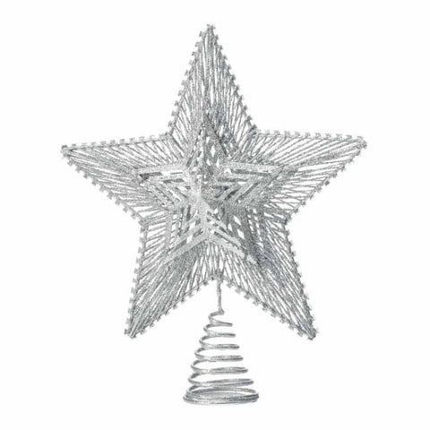 Silver Star Tree Topper Christmas Catalog