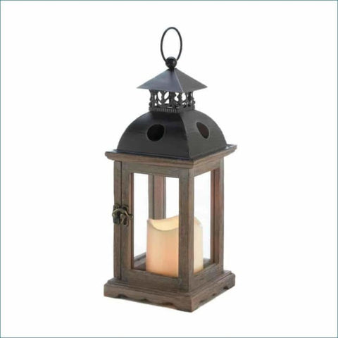 Small Monticello Lantern With Led Candle Candle Lantern