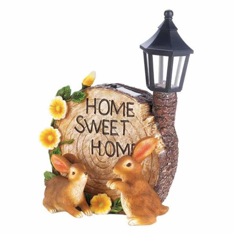Solar Home Sweet Home Bunnies Solar Lighting