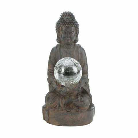 Solar Powered Buddha Garden Statue Solar Lighting