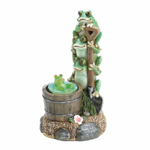 Solar Rotating Frog Garden Decor Solar Lighting
