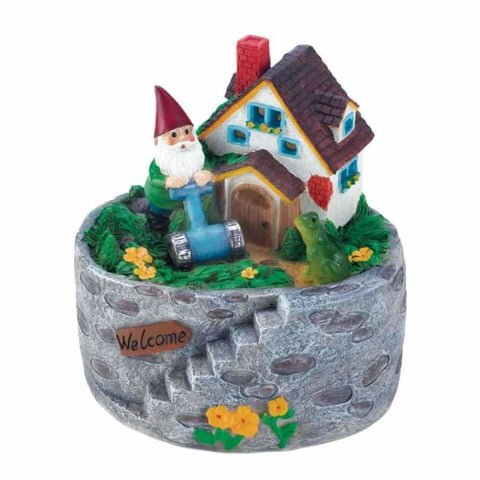 Storybook Home Gnome Solar Statue Solar Lighting