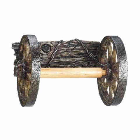 Wagon Wheel Toilet Paper Holder Bed; Bath & Body