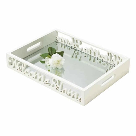 Welcome Home Mirror Tray Serving Tray