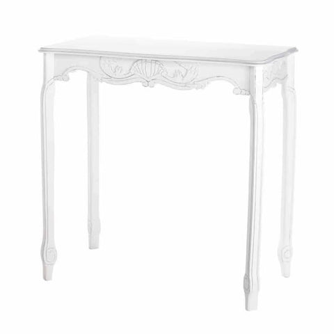 White Scalloped Hall Table Living Room > Console & Sofa Tables