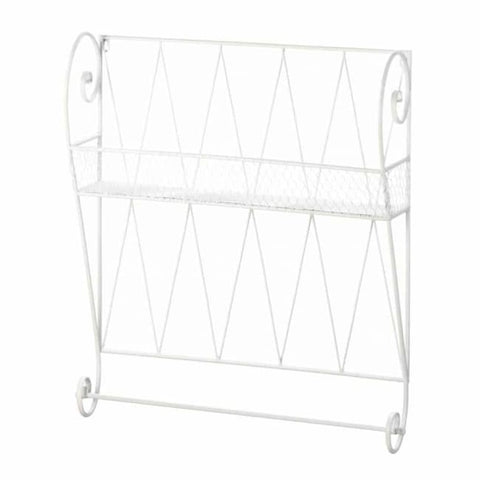White Wire Wall Shelf Wall Shelf