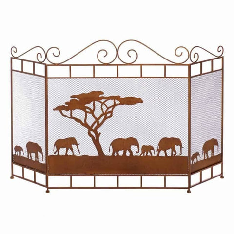 Wild Savannah Fireplace Screen Fireplace Screen