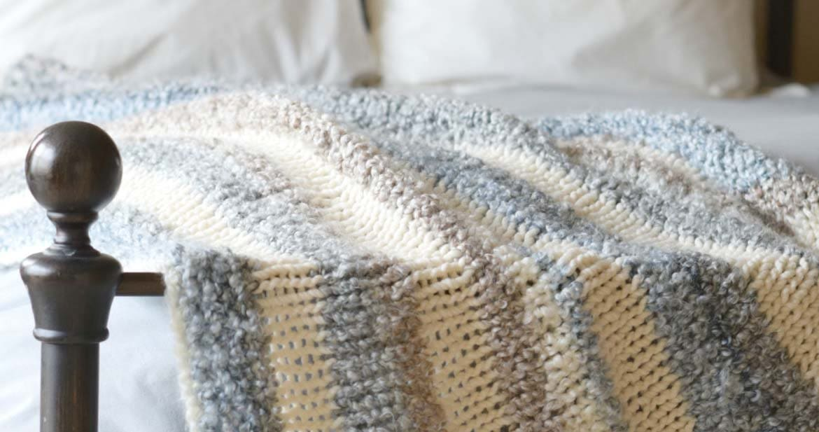 Create a new decor look by adding cozy throw blankets to any space