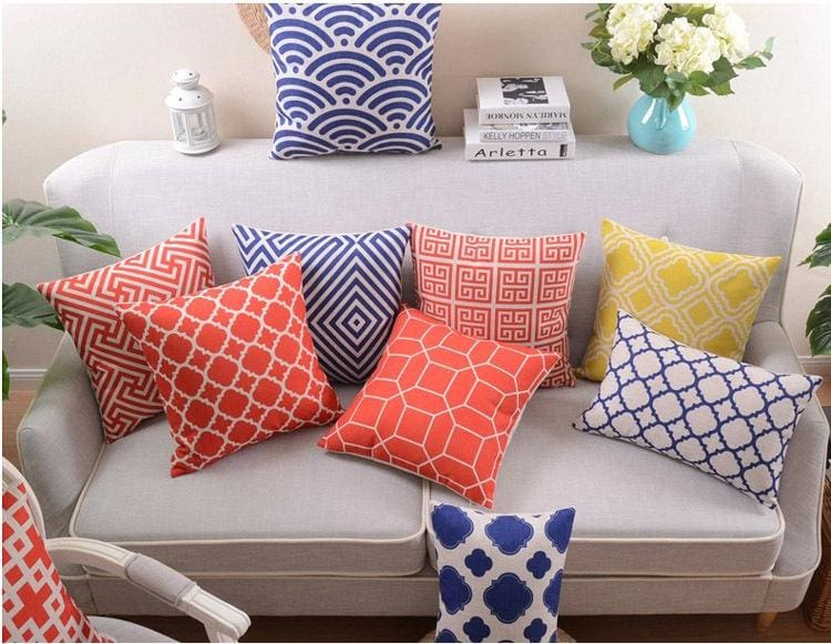 change a rooms look with simple pillows or rearrange your existing pillows for a new look