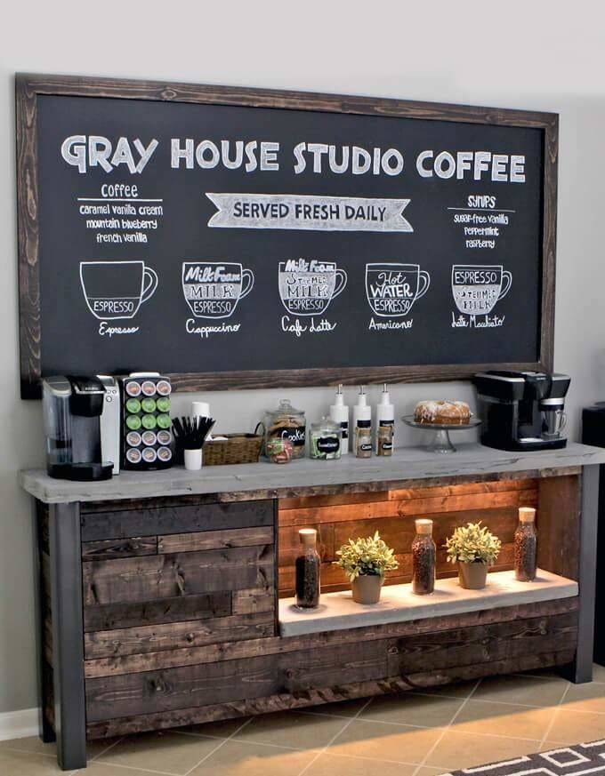 Learn more about this creative DIY coffee station