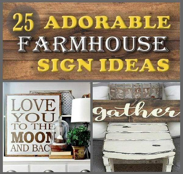 25 adorable farmhouse sign ideas to pin