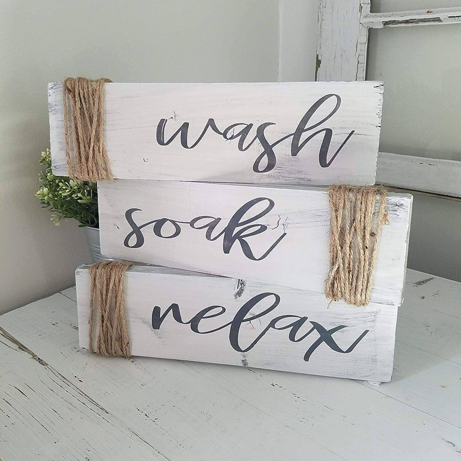 modern farmhouse bathroom sign