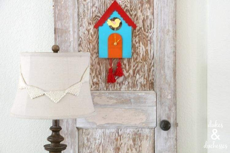 DIY up-cycled cuckoo clock from a cereal box