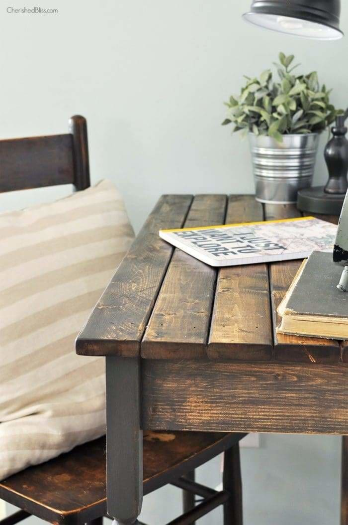 DIY writing table project