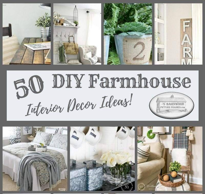 50 DIY farmhouse home decor inspiration ideas
