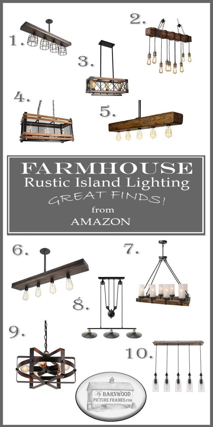 top 10 farmhouse rustic island light fixtures from amazon