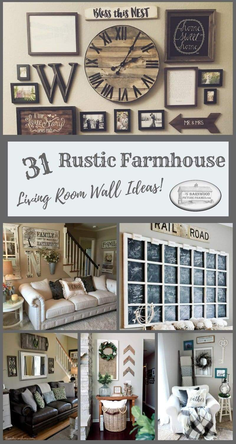 31 Timeless Rustic Living Room Wall Decor Ideas You Must See ...