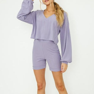 Lily Crop and Shorts Set