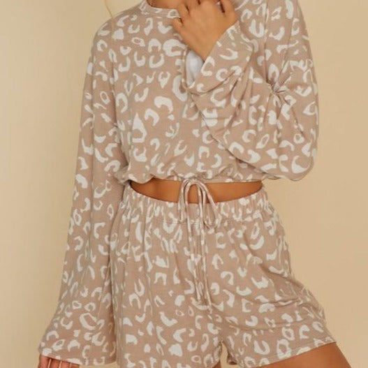 Wild Crop and Shorts Set