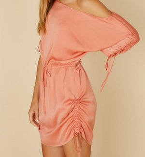 Satin Ruched Dress