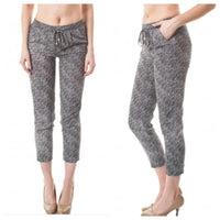 Crosshatch Crop Pants