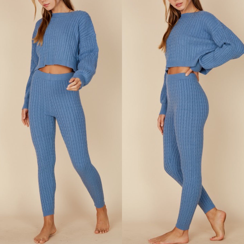 Calliope Crop and Pants Set