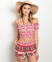 Eliana Crop Shorts Set