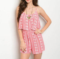 Coral Ivory Romper