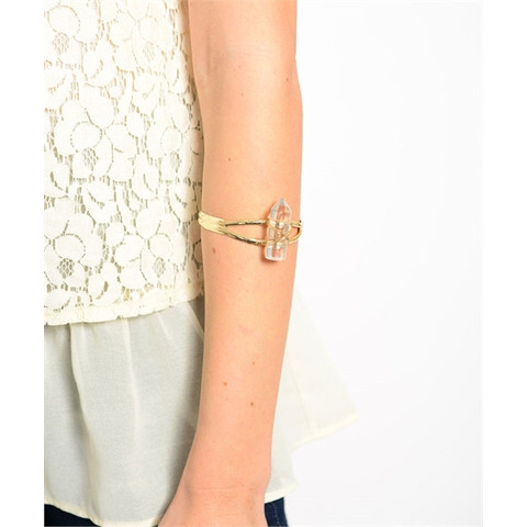 Gold Crystal Arm Cuff