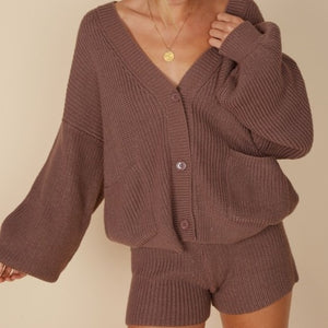 Jessica Cardigan and Shorts Set